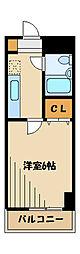 エクレール東林間2番館[5階]の間取り