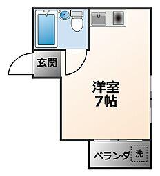 エレガントルーム鳴尾[3階]の間取り