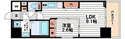 ファーストフィオーレ心斎橋イーストII[9階]の間取り