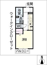 プラセール城見ヶ丘[1階]の間取り