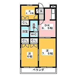 ソシアMK[2階]の間取り