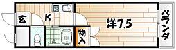 シャトレ井堀[5階]の間取り