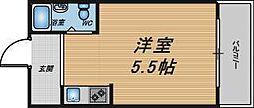 大阪府大阪市北区本庄西1丁目の賃貸マンションの間取り