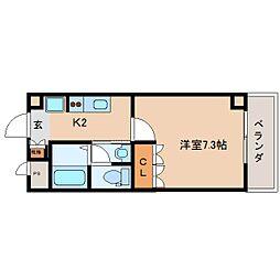 奈良県奈良市大宮町の賃貸マンションの間取り