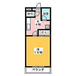 ケイズシティ豊成[2階]の間取り