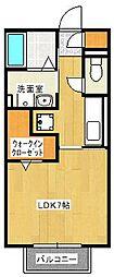ハートフル[2階]の間取り