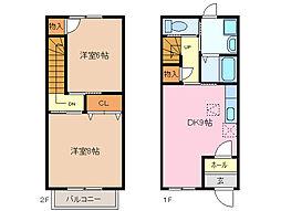 [テラスハウス] 三重県四日市市大字塩浜 の賃貸【/】の間取り