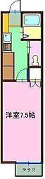 ルミナス祇園III[108号室]の間取り