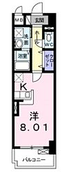 兵庫県神戸市長田区大橋町8丁目の賃貸マンションの間取り