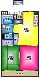 レジデンスユキ[2階]の間取り