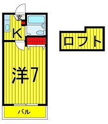 矢崎ハイツ[203号室]の間取り