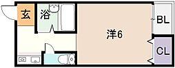 シャトレ小阪[3階]の間取り