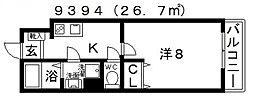 EXハイツ北新町[104号室号室]の間取り