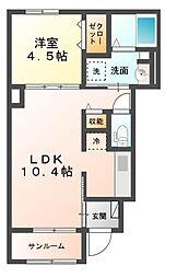 サニーサイドIII[1階]の間取り