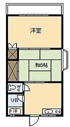 第7メゾン大栄[203号室]の間取り
