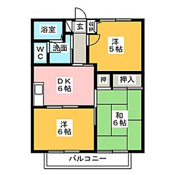 シュライン南門II[1階]の間取り