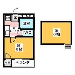 セイラBOX東貝沢A[2階]の間取り