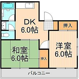 恩田コーポ[301号室]の間取り