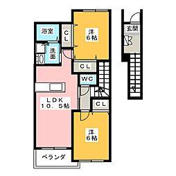 ビスタマールI・II・III[2階]の間取り