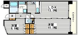 KWレジデンス日本橋[9階]の間取り