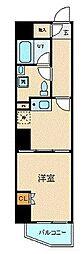 JR東海道本線 横浜駅 徒歩5分の賃貸マンション 9階1Kの間取り