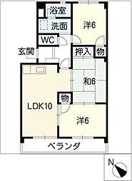 ピボットマンション生路[5階]の間取り