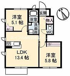 ハイツMINORU C棟[1階]の間取り