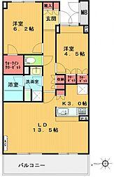 ル・シヤージュ青葉台[314号室号室]の間取り