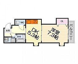 大阪府堺市西区浜寺石津町西3丁の賃貸マンションの間取り