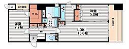 リーガル南船場2[9階]の間取り
