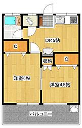 松ヶ丘ハイツ[2階]の間取り