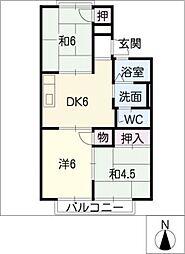 OAK HOUSE[2階]の間取り