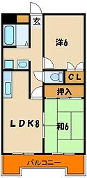 サンロイヤル神戸西[3階]の間取り