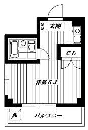 東京都多摩市関戸2丁目の賃貸マンションの間取り
