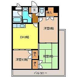メゾン原II[5階]の間取り