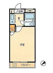 ライオンズマンション横浜山手[402号室]の間取り