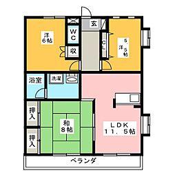 KSハイツ[3階]の間取り