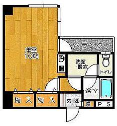 SKセントラルマンション[405号室]の間取り