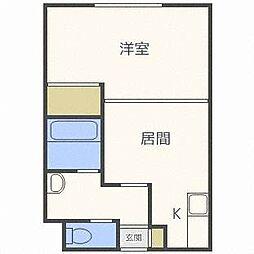 コスモ美香保[2階]の間取り