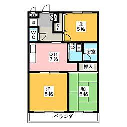第1アーバンハイツ[4階]の間取り