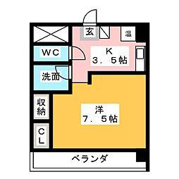 リアナ小牧アパートメント[4階]の間取り