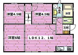 [一戸建] 広島県広島市安佐南区西原1丁目 の賃貸【/】の間取り