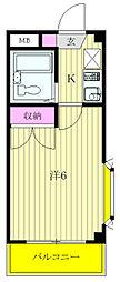 シティパレス上井草[1階]の間取り