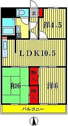 三浦マンション[402号室]の間取り