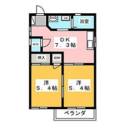 ファミーユ成滝[2階]の間取り