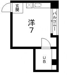 レナジア四天王寺[403号室号室]の間取り