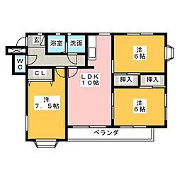 High Mansion MITSUYO I[2階]の間取り