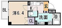 アームスコート若江岩田[5階]の間取り