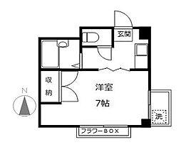 東京都杉並区高円寺北3丁目の賃貸マンションの間取り