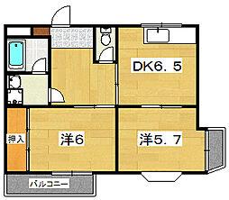 レジデンス招提[2階]の間取り